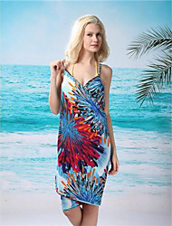 Women's Straped Cover-Ups , Floral Acrylic/Spandex Multi-color