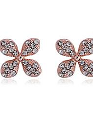 BoLi Women's Modern Flower Diamonade Earrings 387