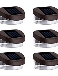 6pcs 2LED luci bianche solari Muro Stair parapetto pedonale Outdoor Deck Lamp