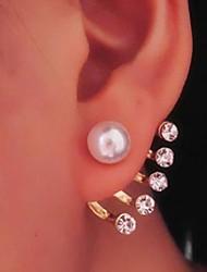 Cinq Accent perle Boucles d'oreilles Miss U Femmes