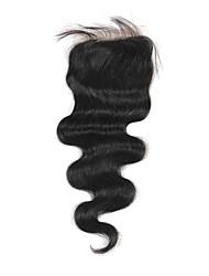 Haute Qualité cheveux brésilien dentelle Fermeture Carrosserie vague 22inch En stock
