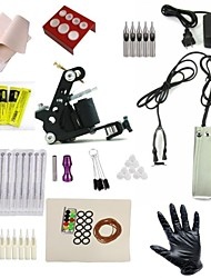 Cheap Beginner Complete Tattoo Kit Machine Black Ink Combine Power System Needles Grip