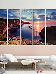 Stretched Canvas Art  The Setting Sun is Beautiful Set of 5