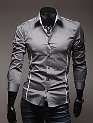 Men's Causal Personality Slim Long Sleeve Shirt