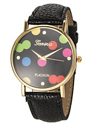 Women's Colorful Dial PU Band Quartz Wrist Watch (Assorted Colors) Cool Watches Unique Watches