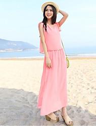 Women `s Bohemian Summer Dress