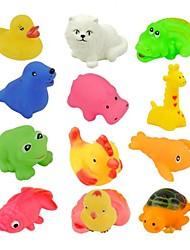 12Pcs Mixed Different Animal Bath Toy Bath Washing Sets Children Education Toys