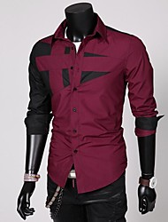 Men's Long Sleeve Blending Fashion Shirt