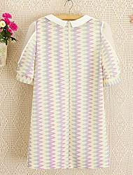 Collar 1/2 Comprimento do vestido da luva do joelho modo La Organza emenda Strapless Pan (Cor da tela)