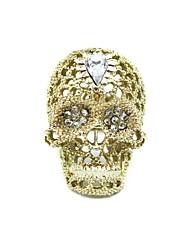 Mode artificiels bague à diamant squelettes 007