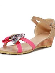 ANXY Women's Bow Wedge Heel Sandals 789