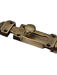 "5"" Retro Bronze Brushed Zinc Alloy With Solid Pin Rod Door Bolt"