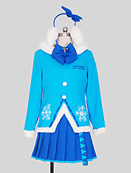 Vocaloid Snow Miku Crystal Flake Cosplay Costume