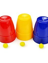 Plastic Magic Cups And Balls Children Toys