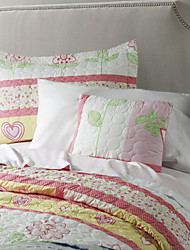 Réversible lavable Quilt Set, 1pc Quilt 1pc 1pc Sham coussin 100% Polyester Birds In Love