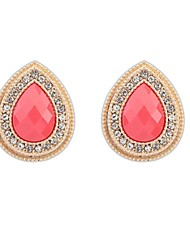 Women's European Elegant Drops Alloy Rhinestone Exquistie Stud Earrings (More Colors) (1 Pair)