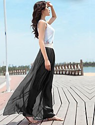 Women's Shinning Bohemian Chiffon Long Skirt