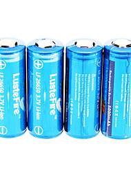 LusteFire 5000mAh 26650 bateria (4 peças) com proteção de sobrecarga