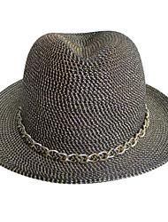 Femme Vannerie Casque-Décontracté Chapeau