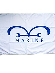 One Piece Marine Cosplay Flag