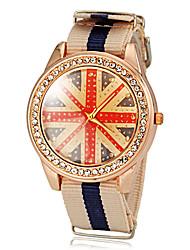 Unisex Padrão Bandeira Reino Unido Tela colorida Banda de pulso de quartzo (cores sortidas)