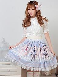 Blau Hübsche Rose Lolita Kawaii Zwillings-Prinzessin Rock Schöne