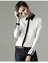 The One & Only Women's Fashion Long Sleeve Chiffon Blouse D614A9921