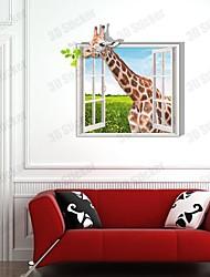3D Die Giraffe1 Wandaufkleber Wandaufkleber