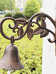 European and American Retro Rustic's Leaves Of Wrought Iron Hand-type Door Bell