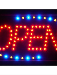 "led001-r Red OPEN Classic LED Business Neon Light Sign 13"" x 9"""
