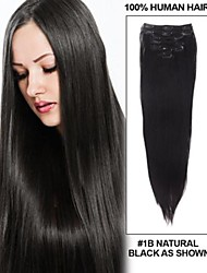 14061709 Human Virgin Hair Clip In Hair Extension Thicken Pieces