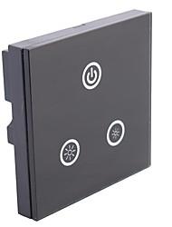 Glass 8A 1-Channel Output Touch Panel LED Dimmer Controller for Single Color LED (DC 12V-24V)