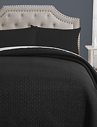 100% Cotton Black Wave Stripe Quilt