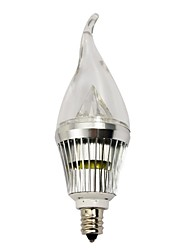 4W E14 / E12 LED Candle Lights 3 High Power LED 210-240 lm Warm White / Cool White Dimmable AC 220-240 V