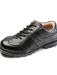 Talon plat de Boy en cuir Confort Oxford avec des chaussures à lacets