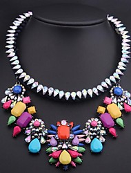 luxo Colored Gemstone colar das mulheres