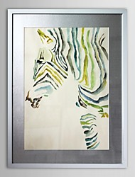 Animal Zebro Framed Art Print