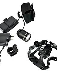 CREE T6 Modo LED 1600Lm 3 Farol Torch Light Head Lamp bicicleta luz do farol