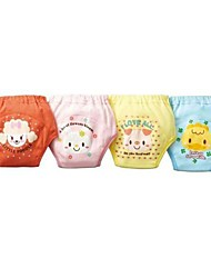 Girl's 4 Layers Reusable Baby Toddler Girls Cute Waterproof Potty Training Pants (4Pieces)