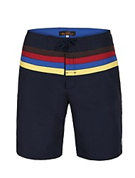 Men's Polyester Waist Stripe Surf Beach Short