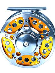 2 +1 roulements à billes 85mm en aluminium moulé sous pression argenté Fly Fishing Reel