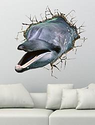La 3D Dolphins Stickers muraux Stickers muraux