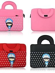 10 polegadas Universal dos desenhos animados bonito portátil Messenger Bag Bolsa Computer Laptop Bag