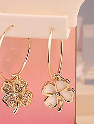 Fashion  Jewelry  Gold  Plated  Drip  Set  Auger Clovers  Earrings  for Women