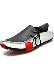 Les chaussures de danse talon plat dentelle-up pour hommes en cuir (plus de couleurs)