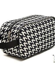Portable tergal noir et blanc Hirondelle Gird Chien Dent Vérifié Maquillage Pochette cosmétique sac de rangement