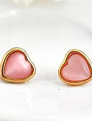 L'Europe Porcelaine Mode Eleagnt goujon de pierre gemme de la femme (rose)