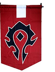 Cosplay Accessories Inspired by WOW Cosplay Anime/ Video Games Cosplay Accessories Flag Red Terylene Male