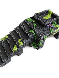 Design Ornement de décoration de résine de pierre Step pour les tortues / Aquarium