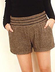 Mujeres Collect Cintura Ocio Cloth rinde los pantalones cortos